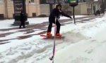 Петербургский любитель катания на сноуборде заплатит штраф